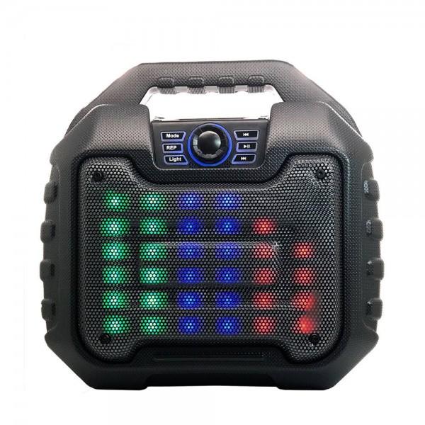 BS16 LED Large Woofer Portable Bluetooth Speaker (Black)