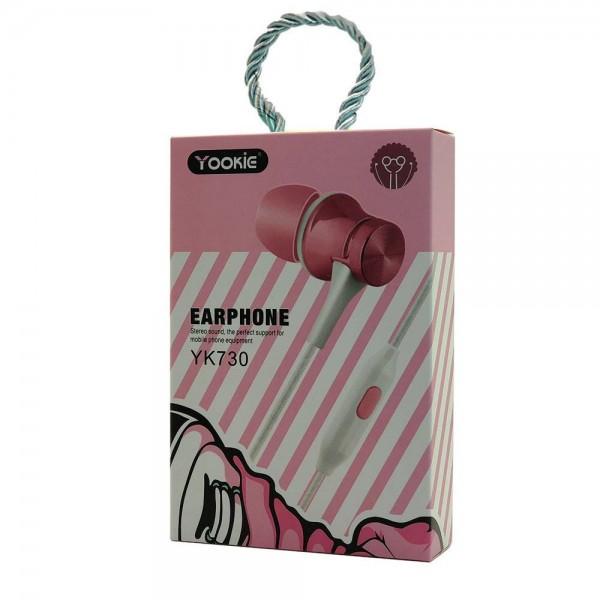 Yookie YK730 Stereo Earphone (pink)