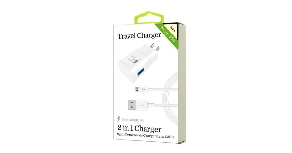 2 In 1 Charger For Samsung Micro Usb V8 V9 Qc Wholesale