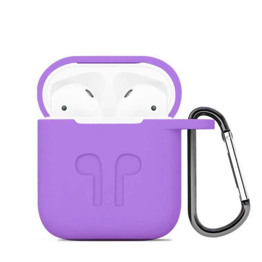 Silicone Case For Airpod 1 2 Purple Wholesale