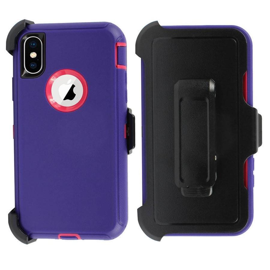 online retailer 61b1a 1b85c Defender Case w/ Clip for iPhone XS Max (purple+pink)| Wholesale