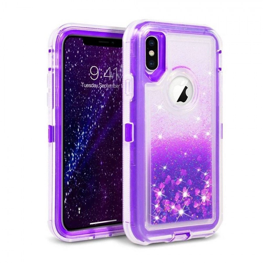 Glitter Defender Case for iPhone XR (purple) | Wholesale