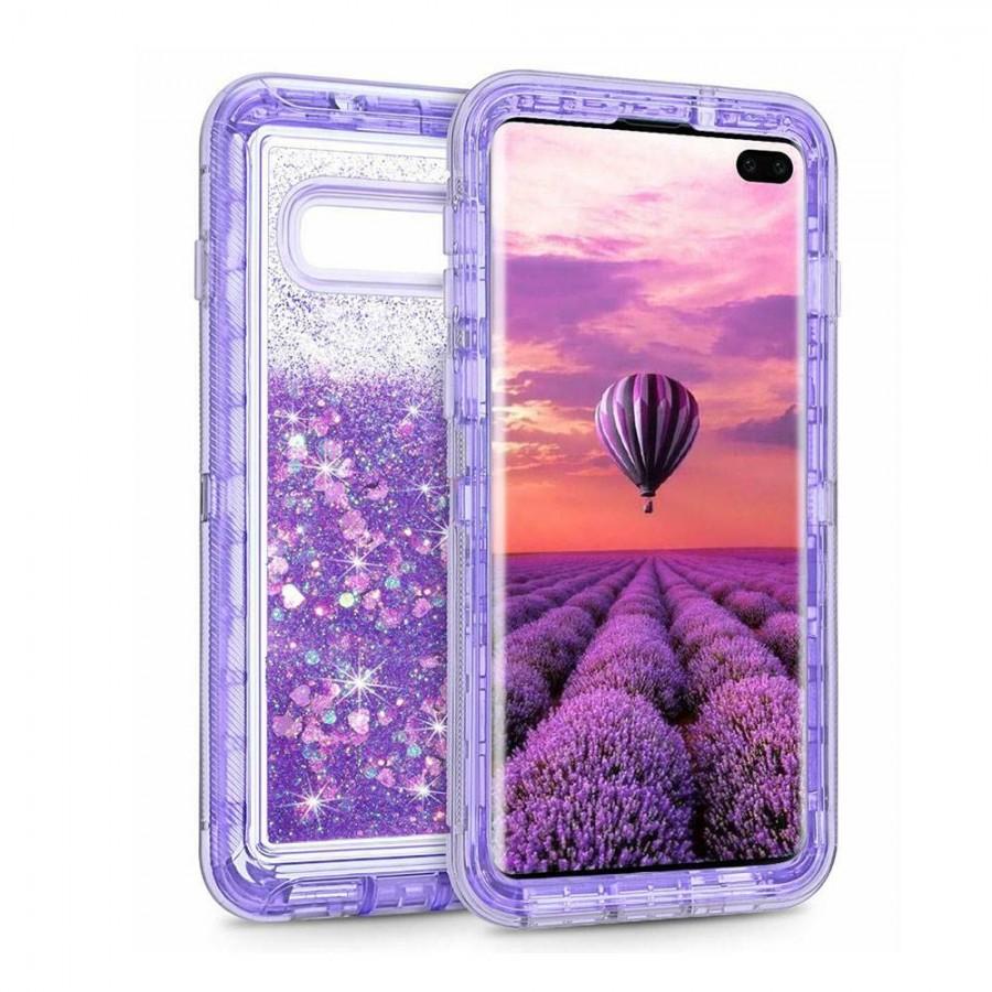 Glitter Defender Case for Samsung Galaxy S10E (purple