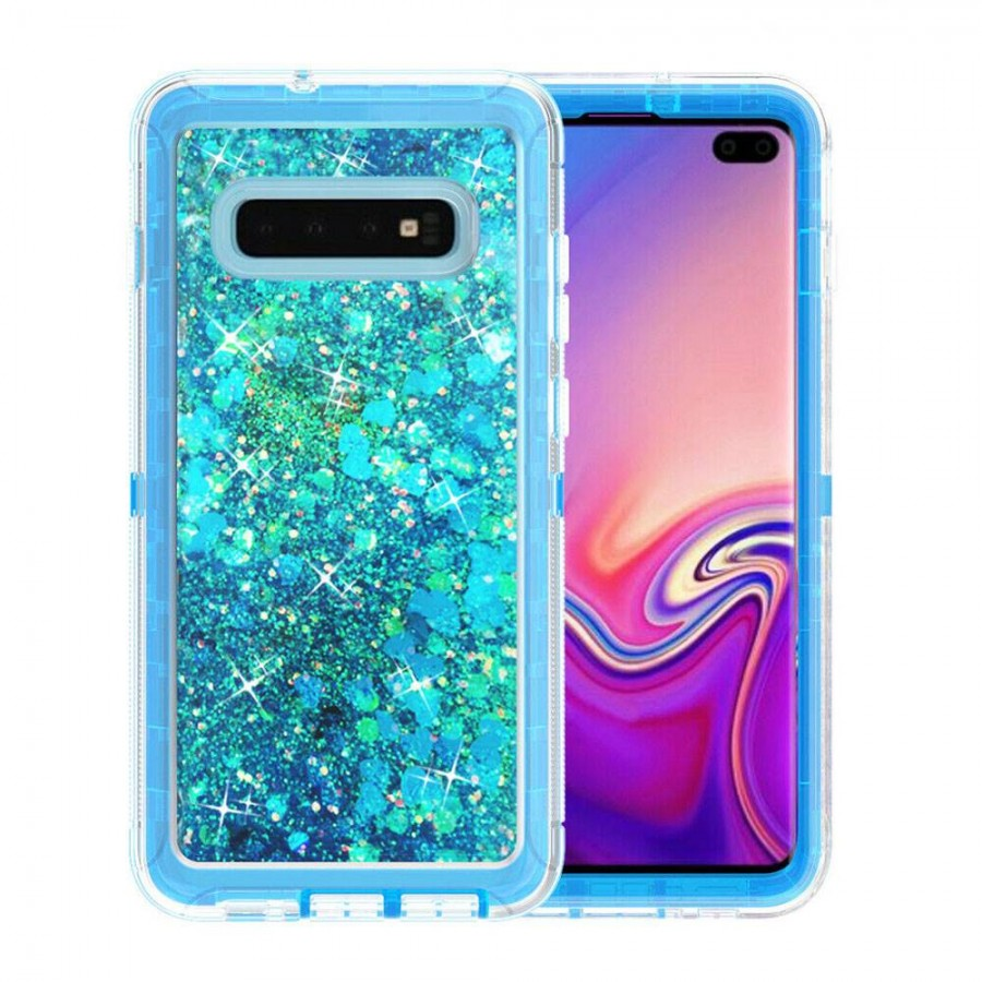Glitter Defender Case for Samsung Galaxy S10E (babyblue) | Wholesale