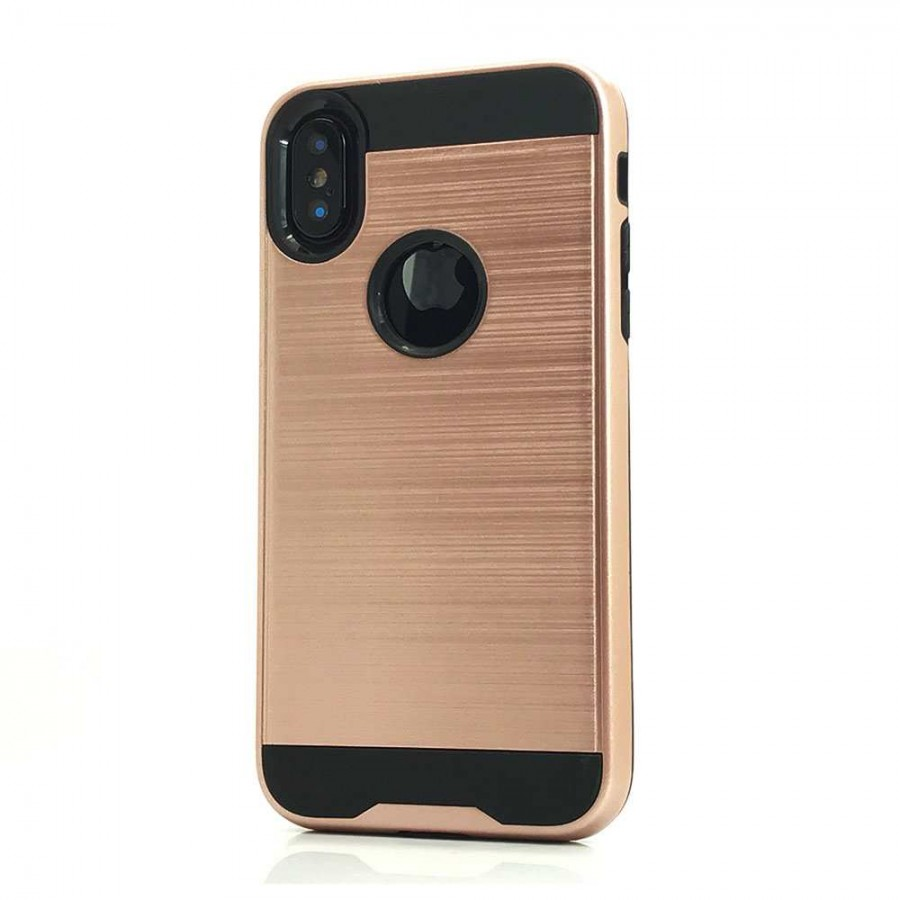 Brush Hybrid Case For Iphone Xs Max Rose Gold Wholesale