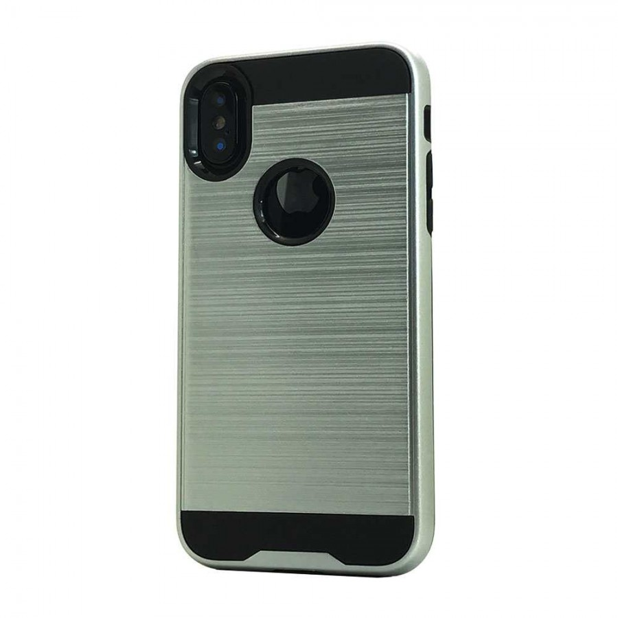 buy popular 3bf3c 61b1b Brush Hybrid Case For iPhone XS Max (silver) | Wholesale