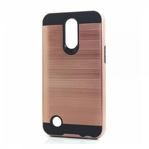Brush Hybrid Case For  LG K20 Plus, Harmony, V5  (rose gold)