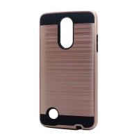 Brush Hybrid Case For LG Aristo MS210, Fortune (rose gold)