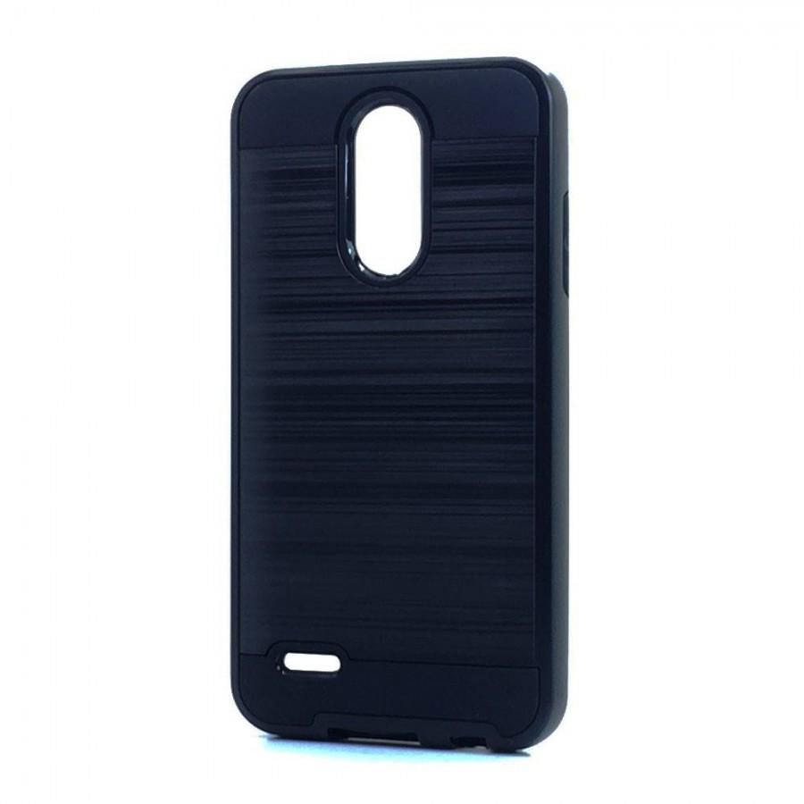 Brush Hybrid Case For LG Tribute Dynasty, Aristo 2, X210 (black)