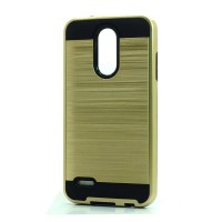 Brush Hybrid Case For LG Tribute Dynasty, Aristo 2, X210 (gold)