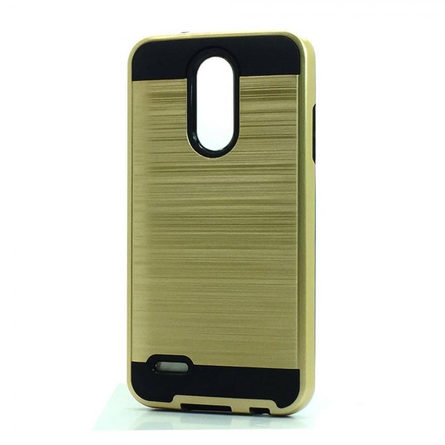 Brush Hybrid Case For LG Tribute Dynasty, Aristo 2, X210 (gold)