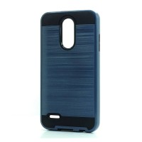 Brush Hybrid Case For LG Tribute Dynasty, Aristo 2, X210 (navy)