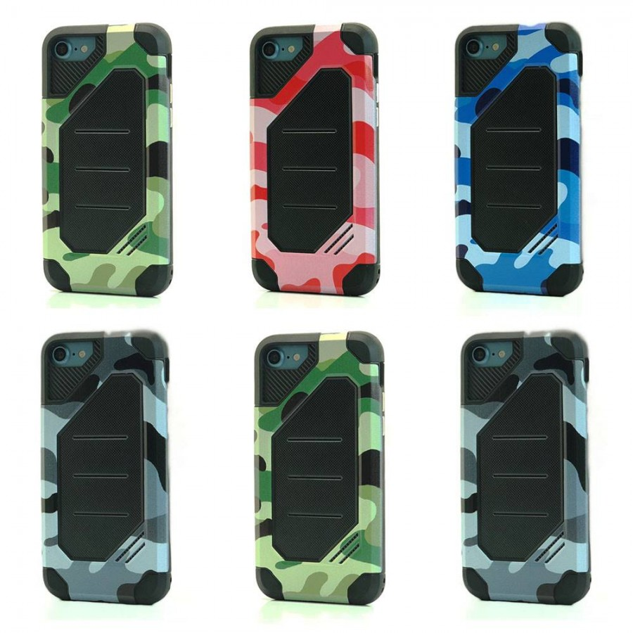 Camo BumbleBee Hybrid Case For iPhone 8 Plus / 7 Plus Lot/6
