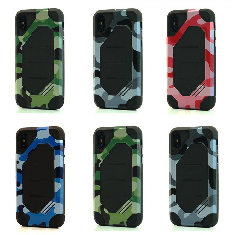 Camo BumbleBee Hybrid Case For iPhone X Lot/6