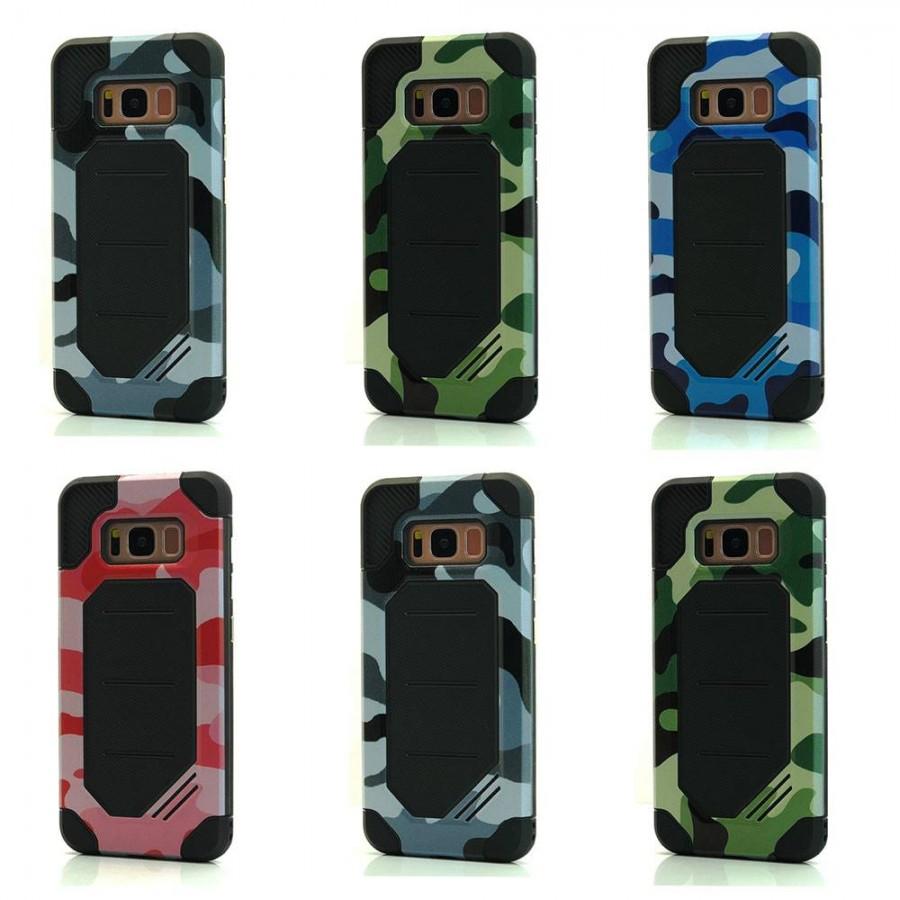 Camo BumbleBee Hybrid Case For Samsung Galaxy S8 Lot/6