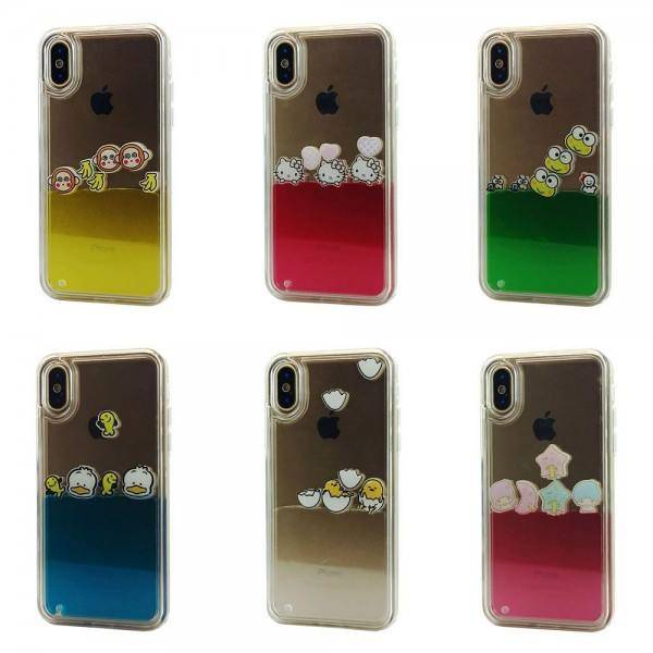 Liquid Float TPU Case for iPhone X Lot/6